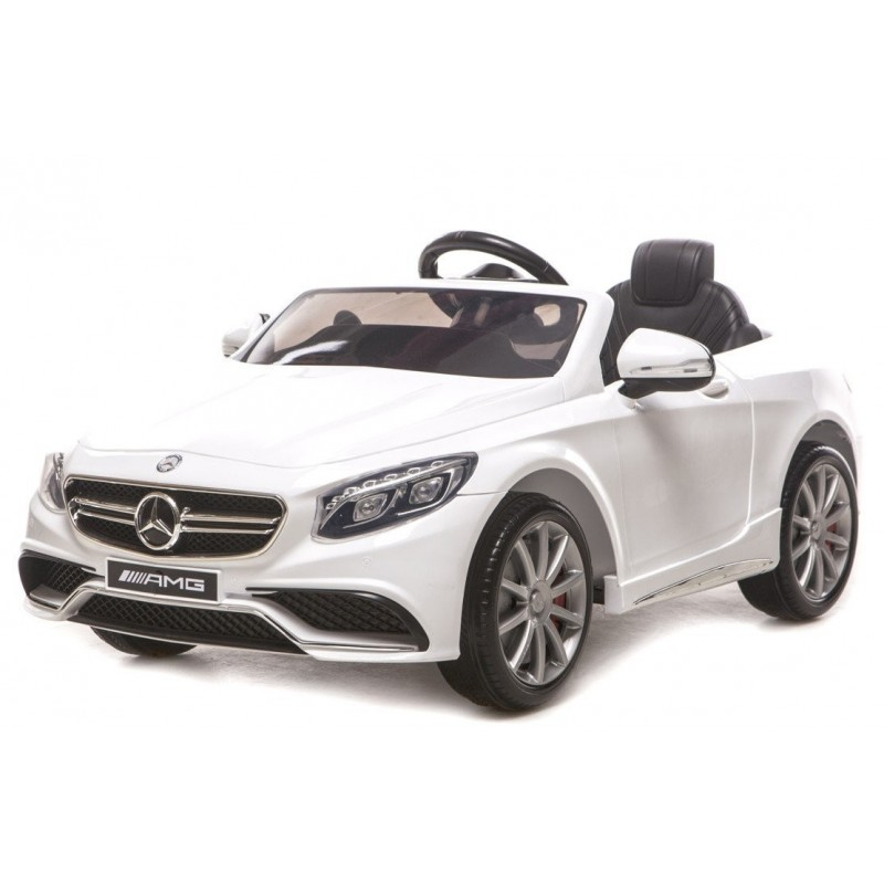 voiture lectrique pour enfant mercedes s63 amg blanche. Black Bedroom Furniture Sets. Home Design Ideas