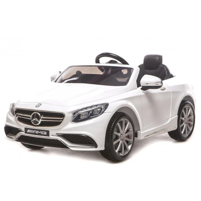 voiture lectrique pour enfant mercedes s63 amg blanche. Black Bedroom Furniture Sets. Home Design Ideas