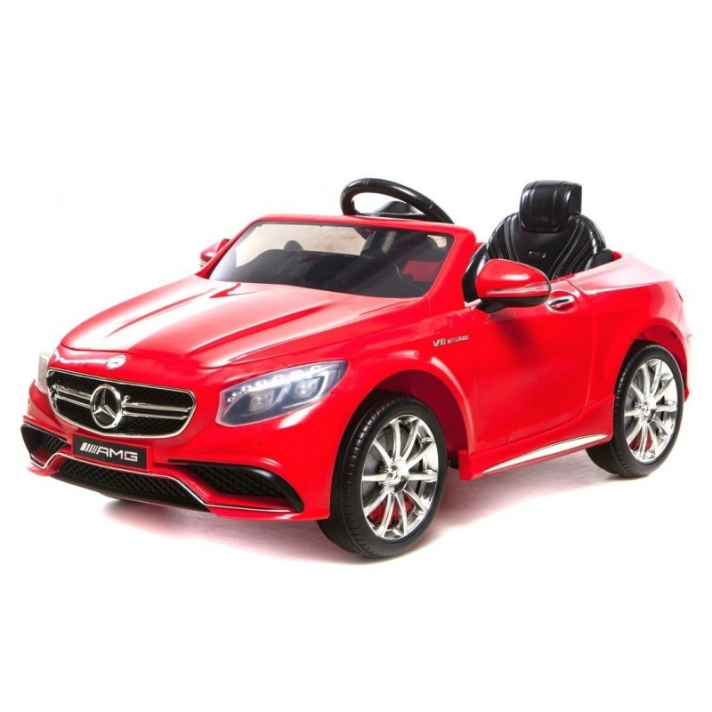 voiture lectrique pour enfant mercedes s63 amg rouge. Black Bedroom Furniture Sets. Home Design Ideas