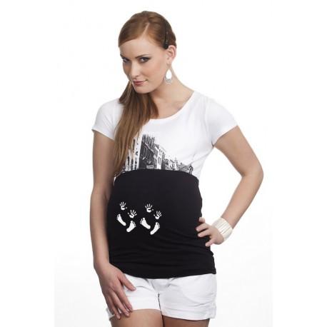 Bandeau de grossesse Jumeaux noir