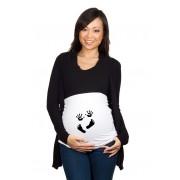 Bandeau de grossesse Mains et Pieds blanc