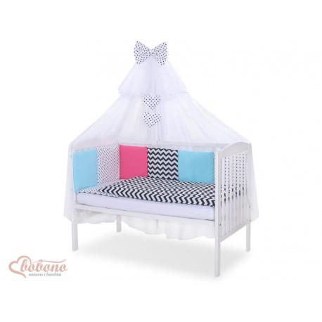 Parure de lit bébé complète Color mix Set 9