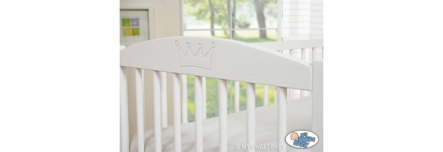 Lits pour bébé motifs couronnes