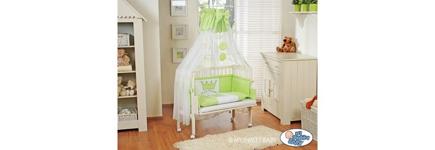 lit bébé cododo avec sa parure prince princesse